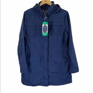 EDDIE BAUER Sz XL Jacket Hooded Adventurer Parka
